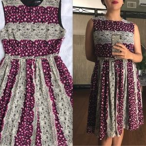 ASOS Petite Exclusive Print Open Back Midi Dress